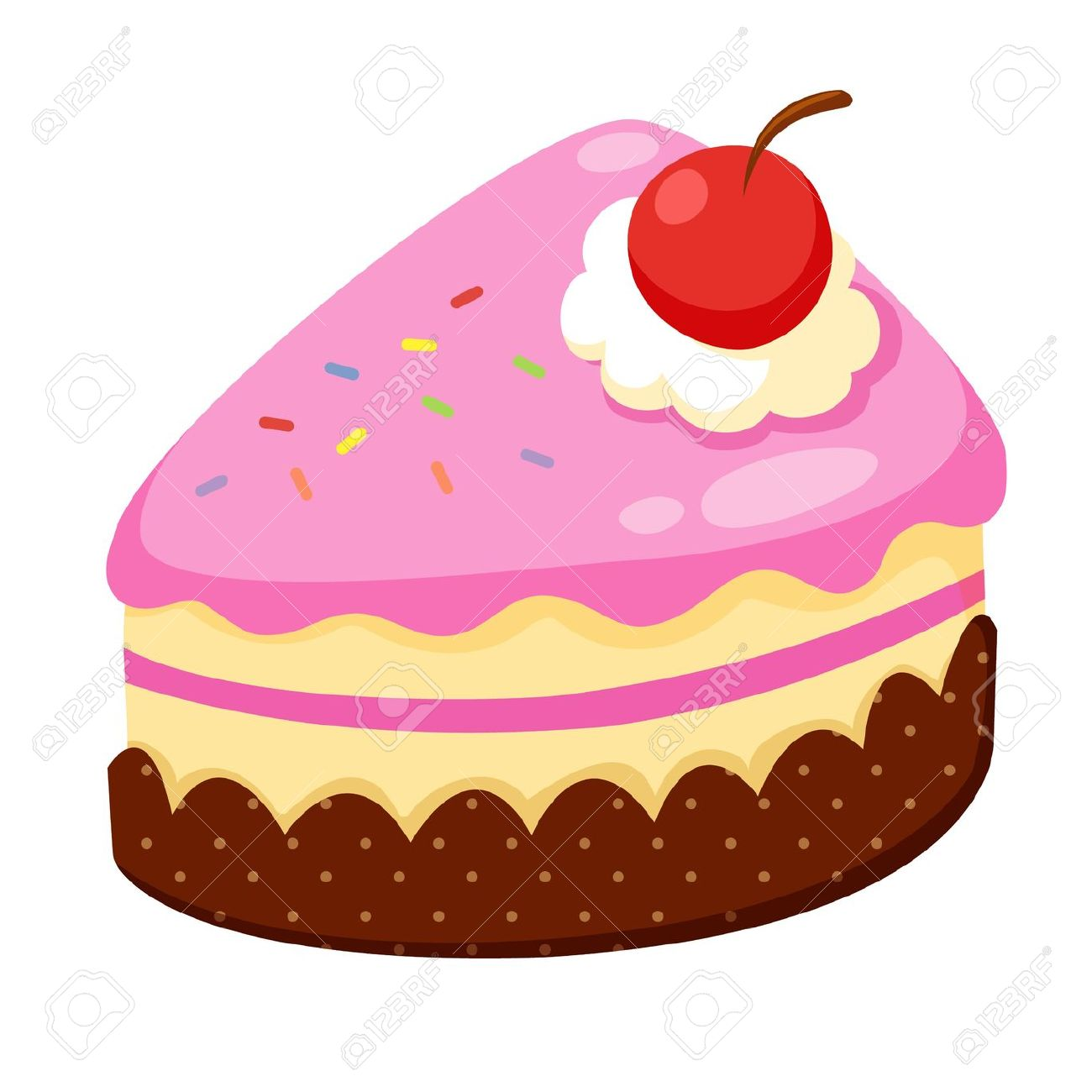 Cake Images In Cartoon : Strawberry cake clipart - Clipground