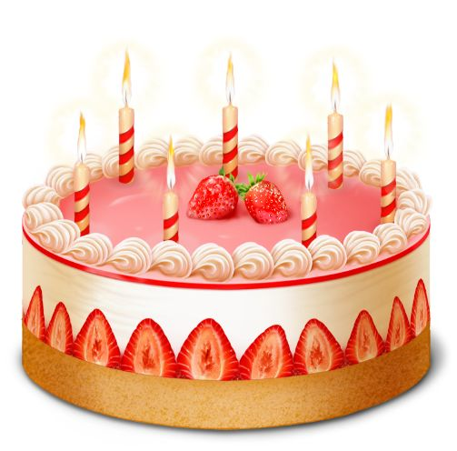Strawberry Cake PNG Clipart Picture.