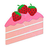 Strawberry cake clipart - Clipground