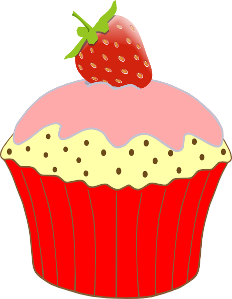 Strawberry Cupcake Clip Art at Clker.com.