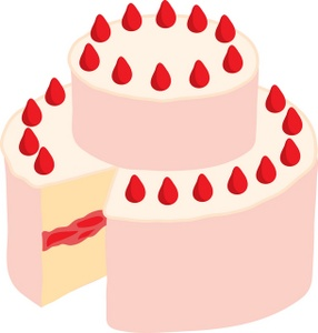 Strawberry Cake Clipart.