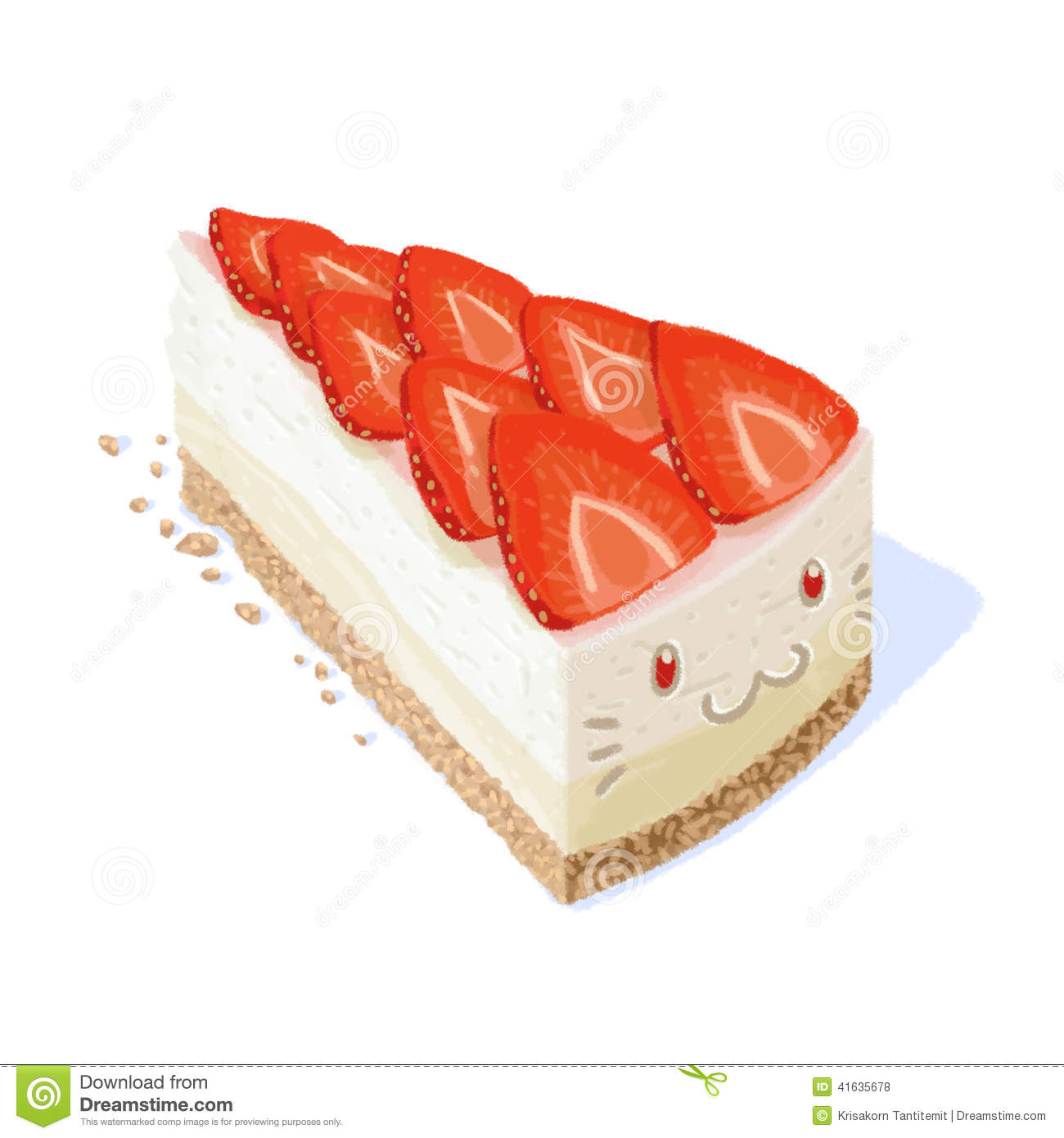 Strawberry cheesecake clipart 8 » Clipart Station.