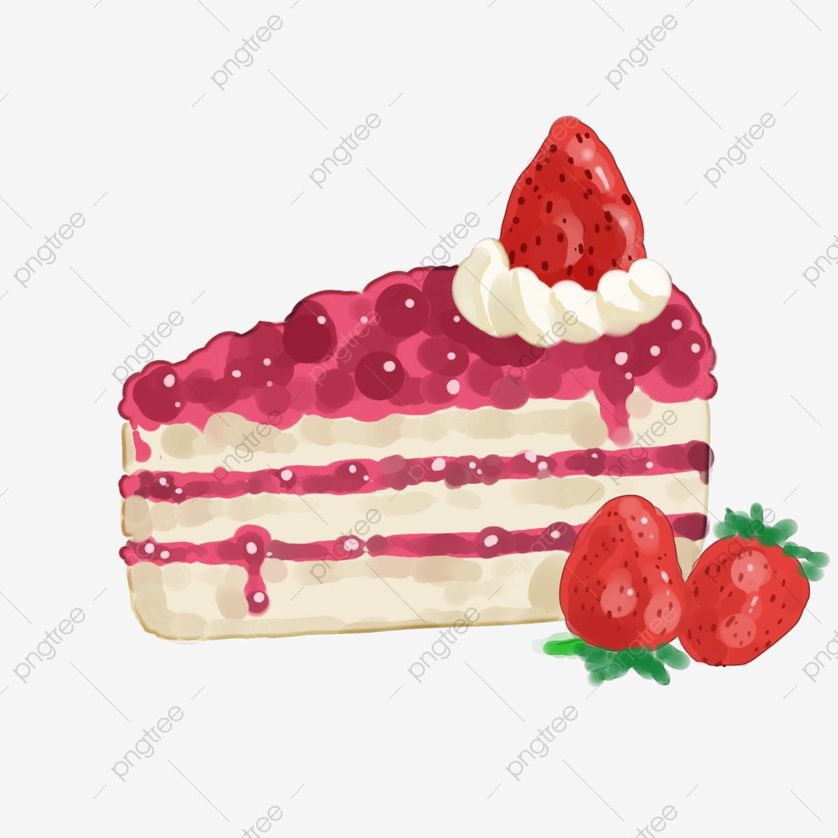 Strawberry Cheesecake, Strawberry Clipart, Dessert, Cake PNG.