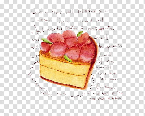 Drawpiccuts, strawberry cheesecake transparent background.