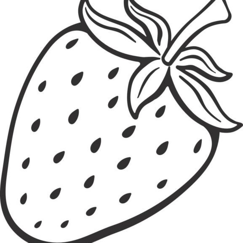 Strawberry clipart black and white 3 » Clipart Portal.