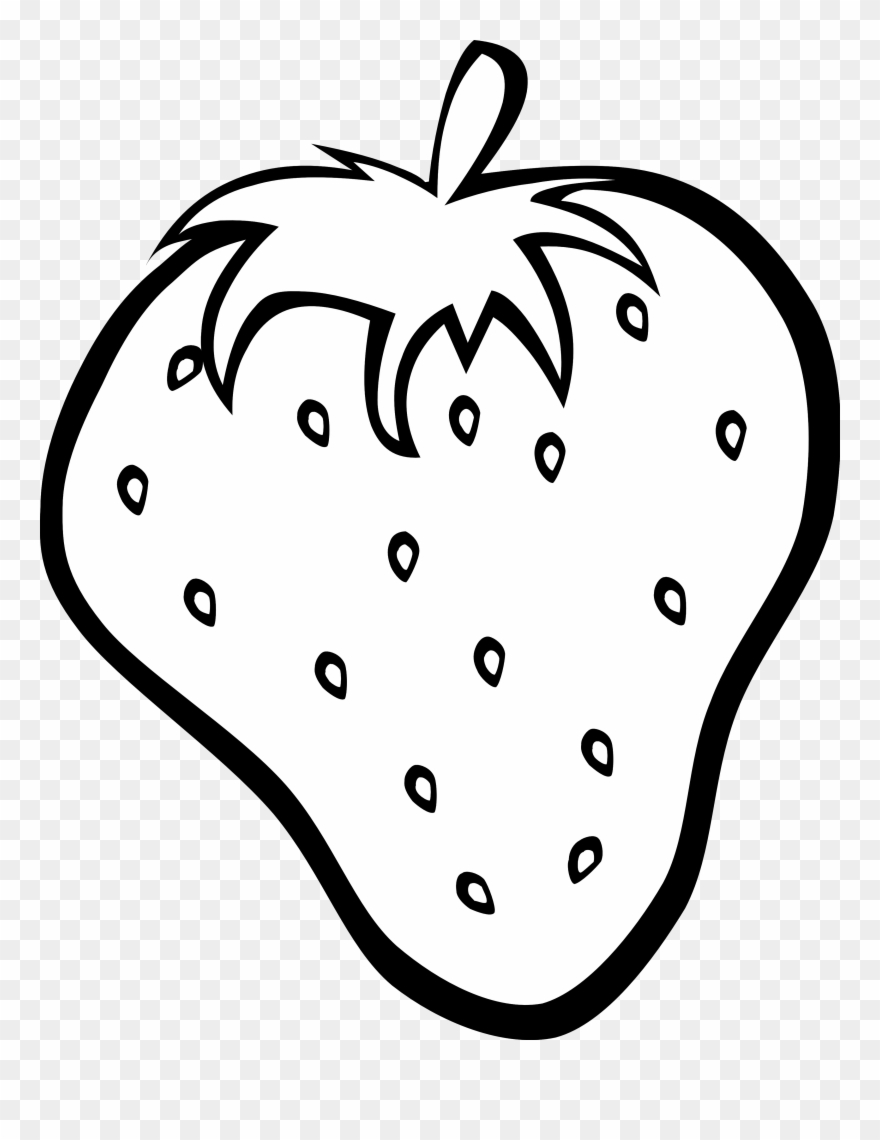 Fruits Clipart Black And White.
