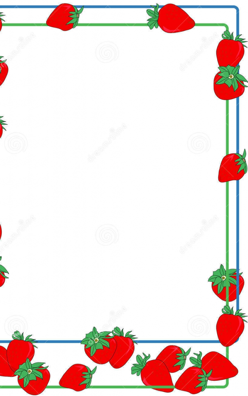 Free download border strawberry vine borderstrawberry.