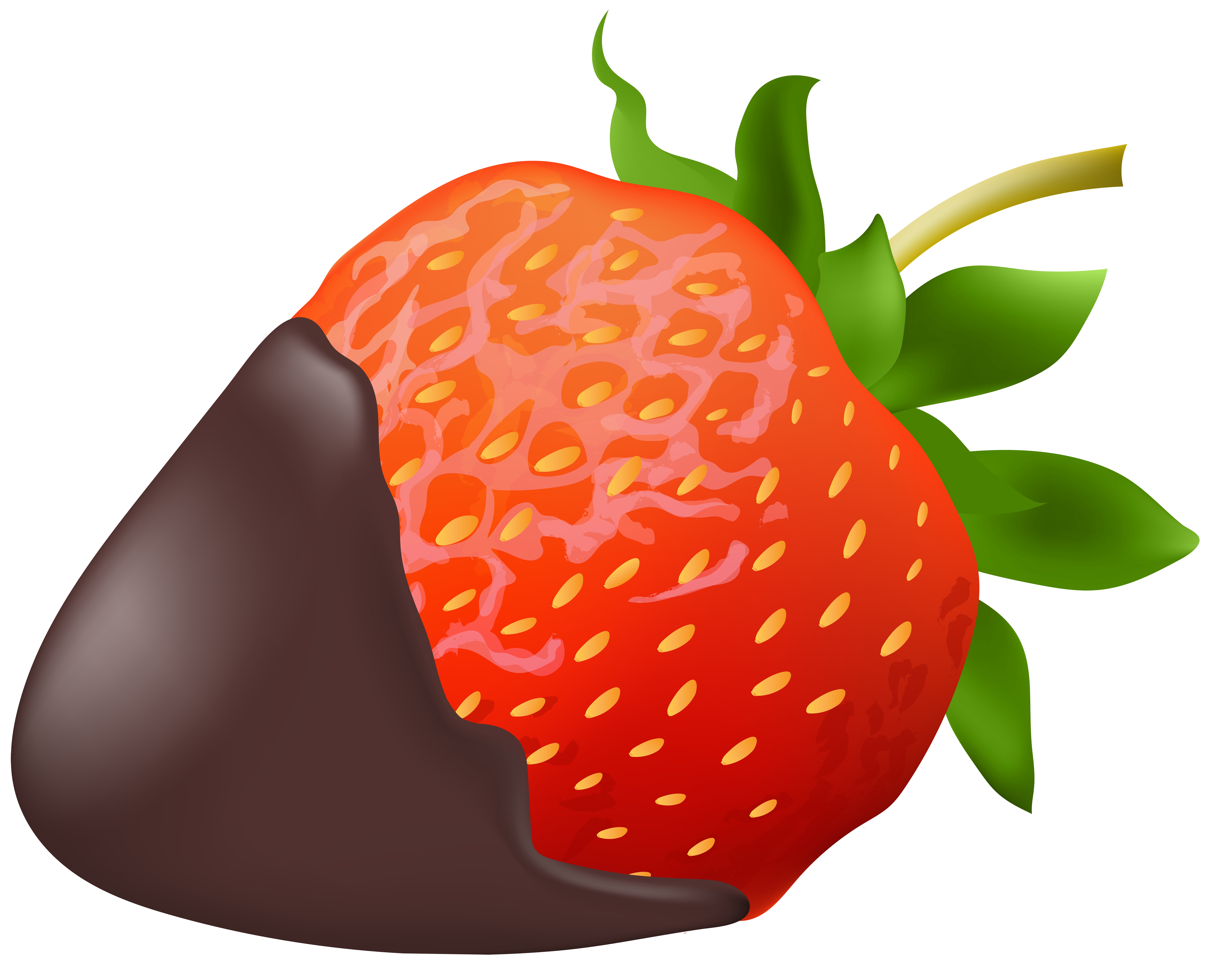 Strawberry with Chocolate PNG Clip Art Image.