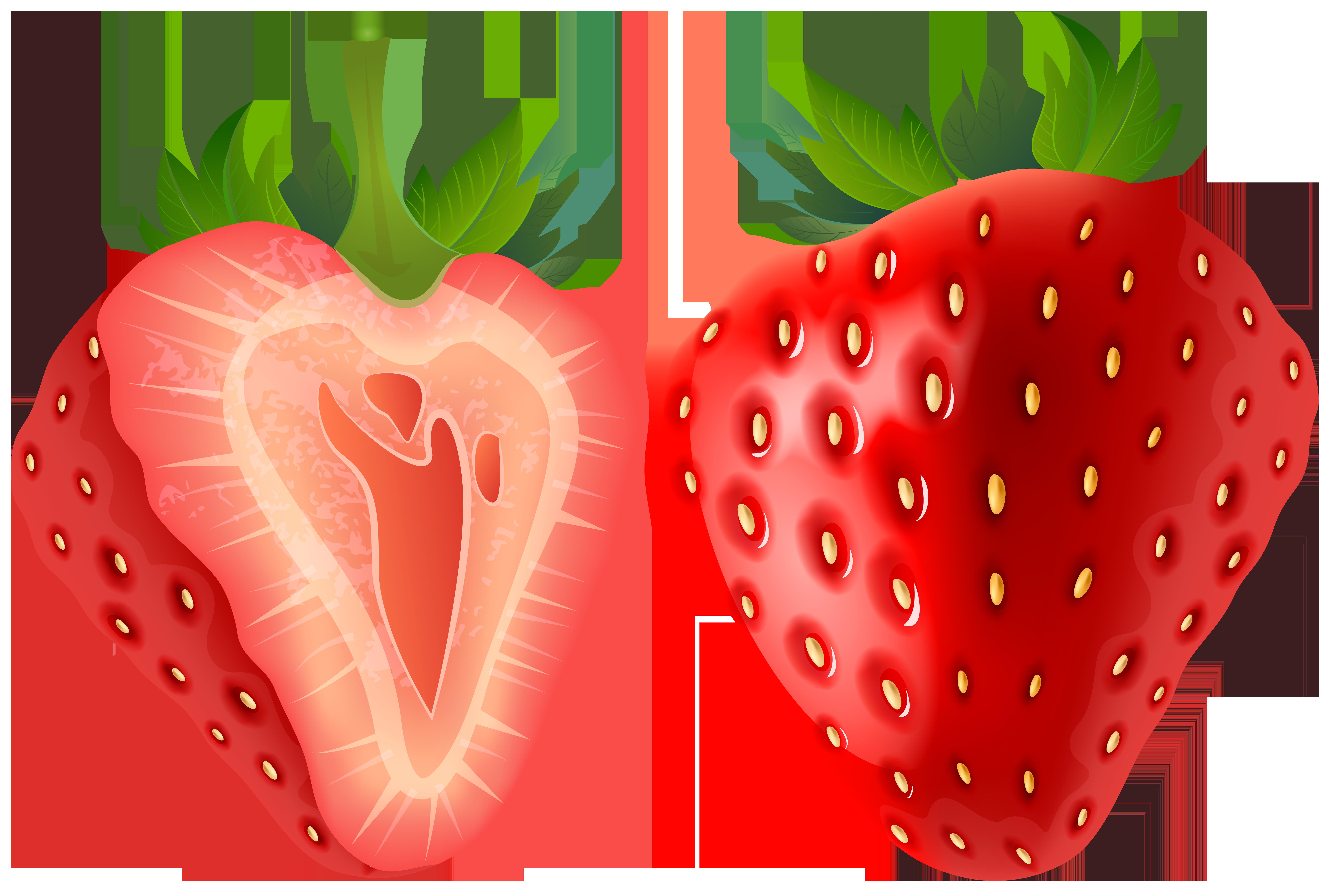 Strawberry Transparent PNG Clip Art Image.