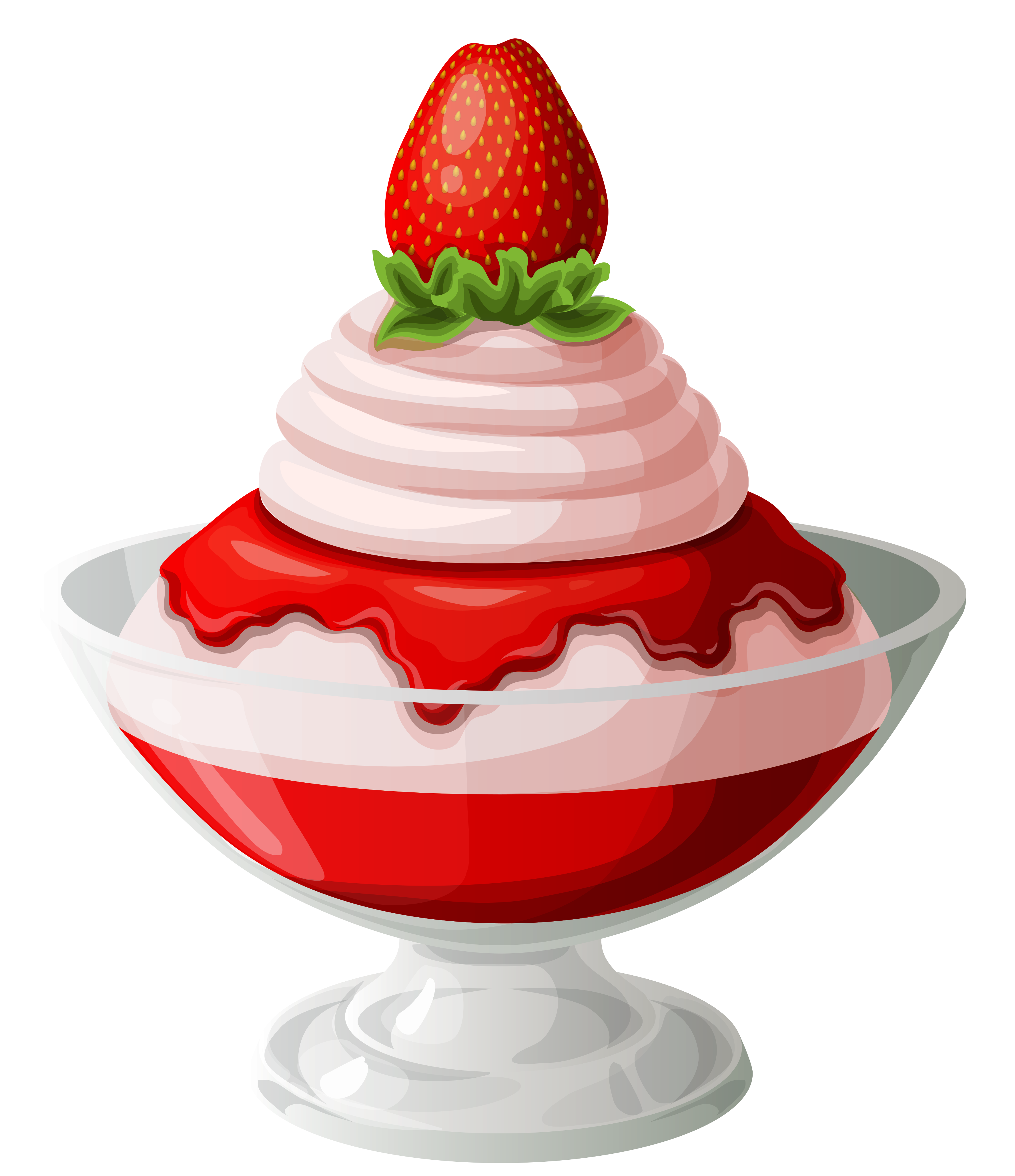 Strawberries and cream clipart.