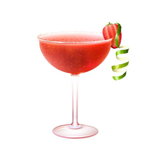 Strawberry daiquiri cocktail realistic.