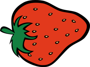 Outline Strawberry Clip Art.