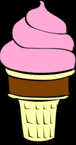Strawberry ice cream clipart.