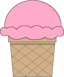 Strawberry Ice Cream Cone Clip Art.