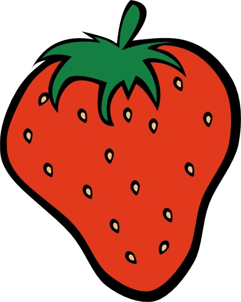 Strawberry clip art Free vector in Open office drawing svg.