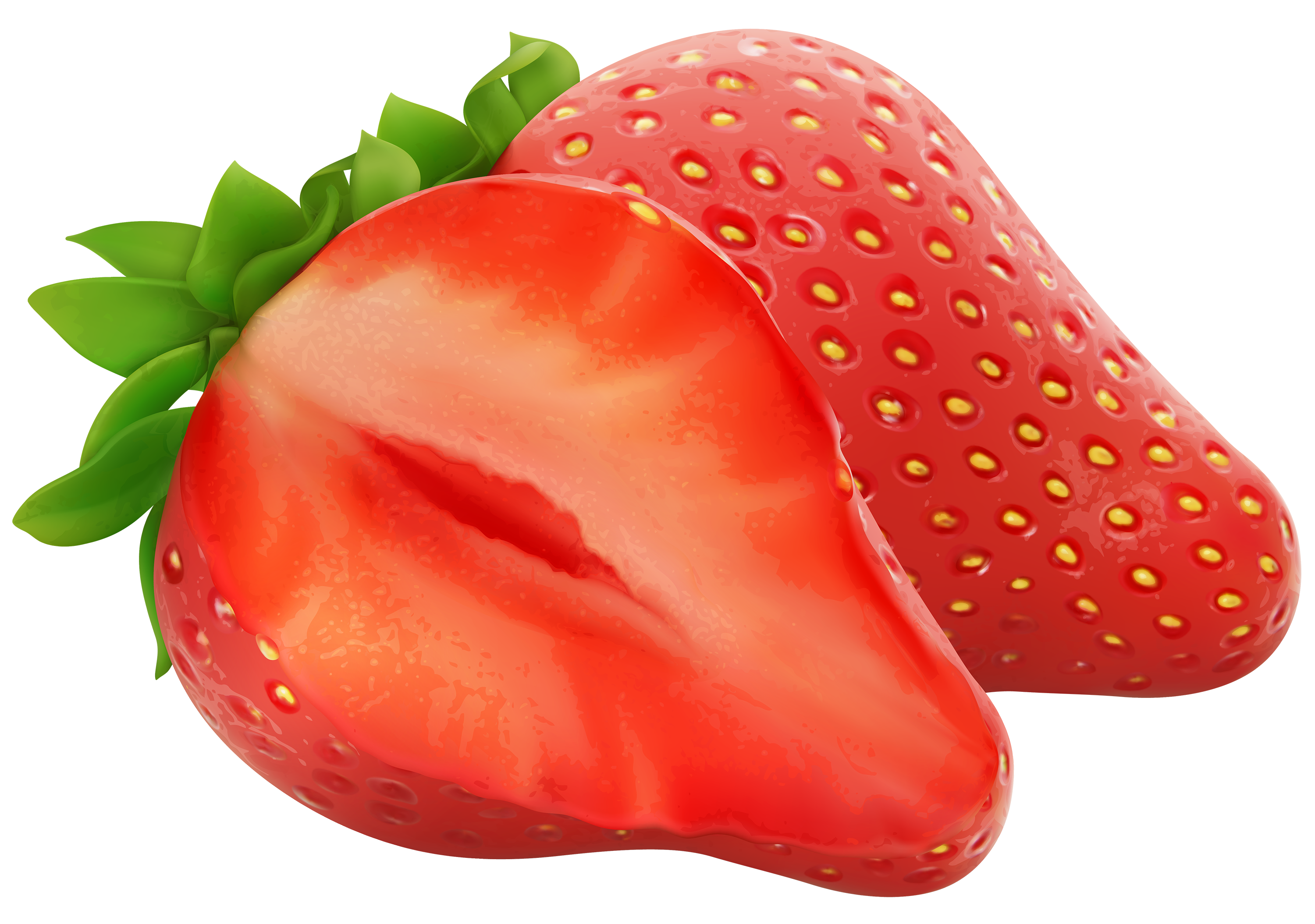Strawberries PNG Clipart.