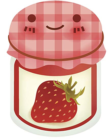 Amazon.com: Cute Happy Jar of Strawberry Jelly Jam Vinyl.