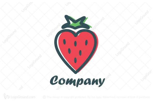 Exclusive Logo 38656, Strawberry Love Logo.