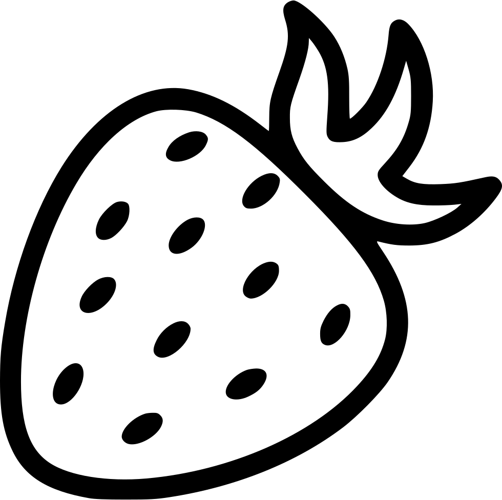 Strawberry Black And White Png.