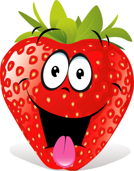 Strawberry Fruit Cartoon.