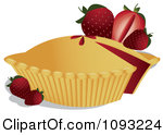 Clipart Strawberry Pie 1.