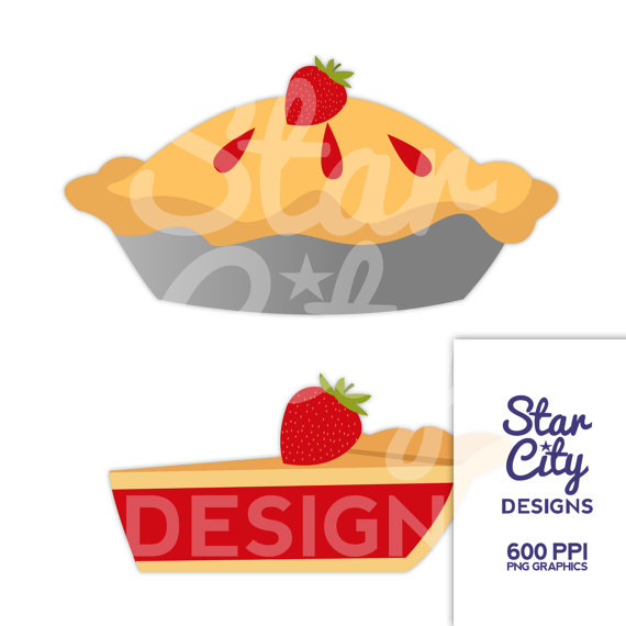 Strawberry Pie Clipart.