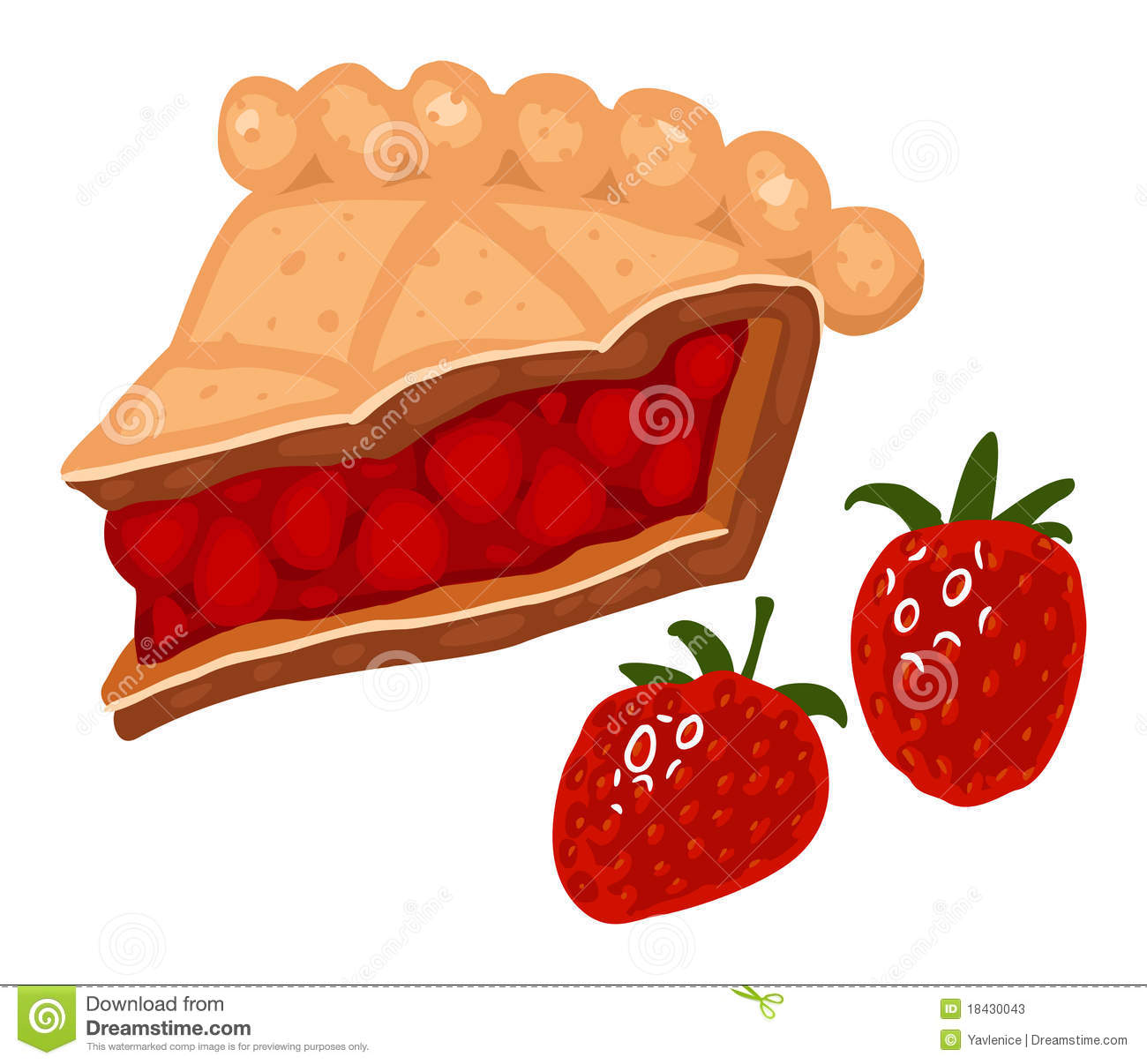 Strawberry Pie Stock Photos.