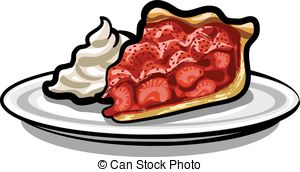 Vector Illustration of strawberry pie.