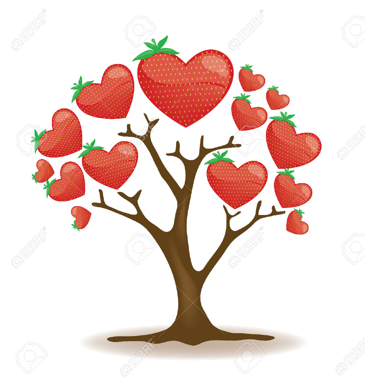 Strawberry Tree Vector Royalty Free Cliparts, Vectors, And Stock.