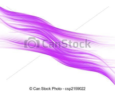 Clip Art of Wavy Pink Streaks.