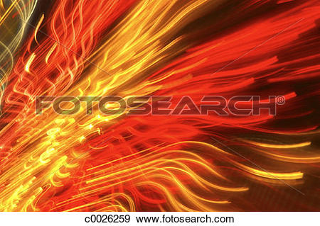 Stock Photograph of orange, red, light, motion, neon, blurred.