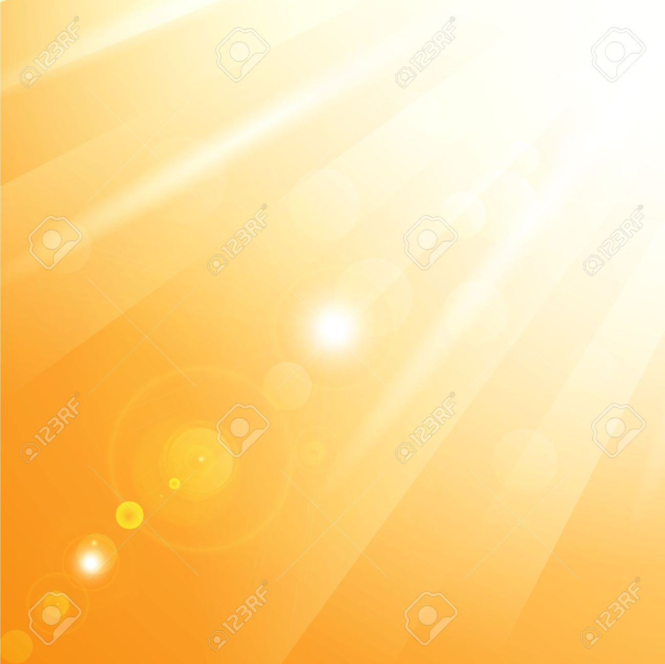Illustration Of Warm Sun Rays Royalty Free Cliparts, Vectors, And.