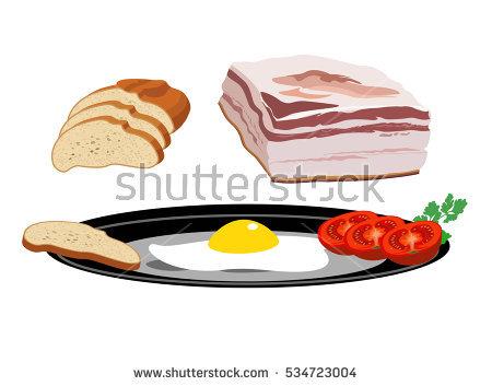Streaky Bacon Slice Stock Photos, Royalty.