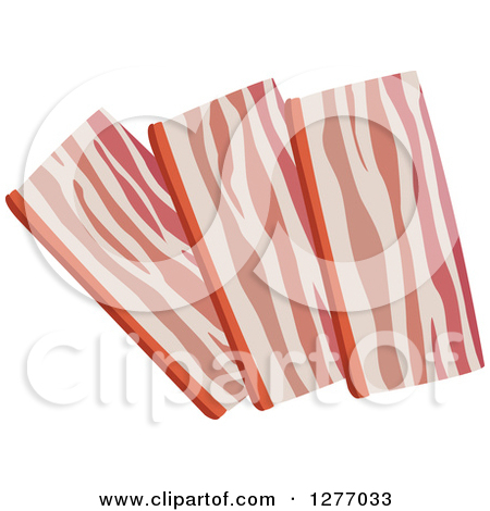 Clipart of Strips of Bacon.