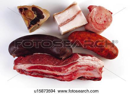 Stock Photo of Food, Meat, Raw, Raw meat, Pork, Pork meat, Streaky.