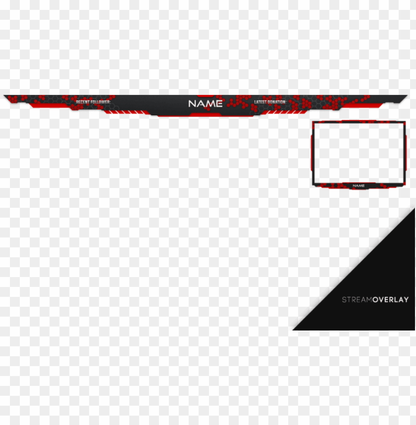free png download stream overlay red png images background.