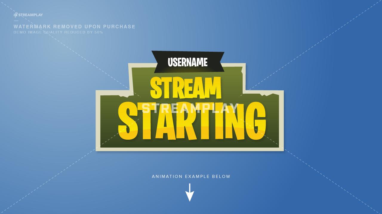 Fortnite Starting Soon Stream Intro Video.