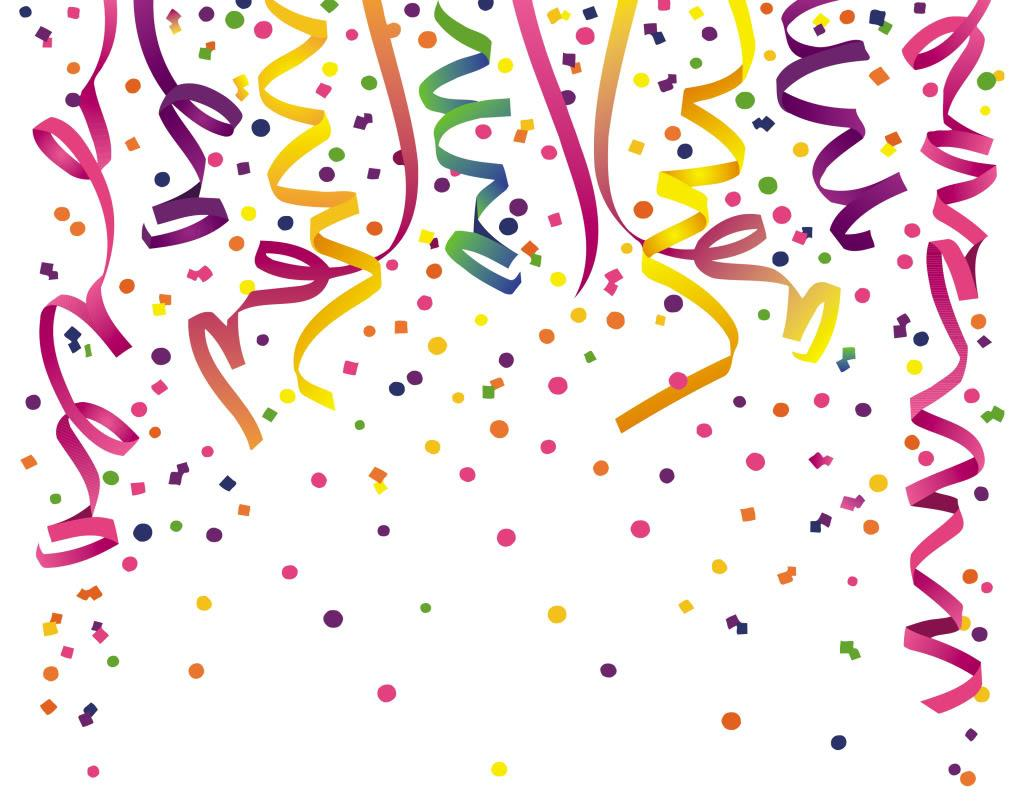 Unique Party Streamers Clip Art Library » Free Vector Art.