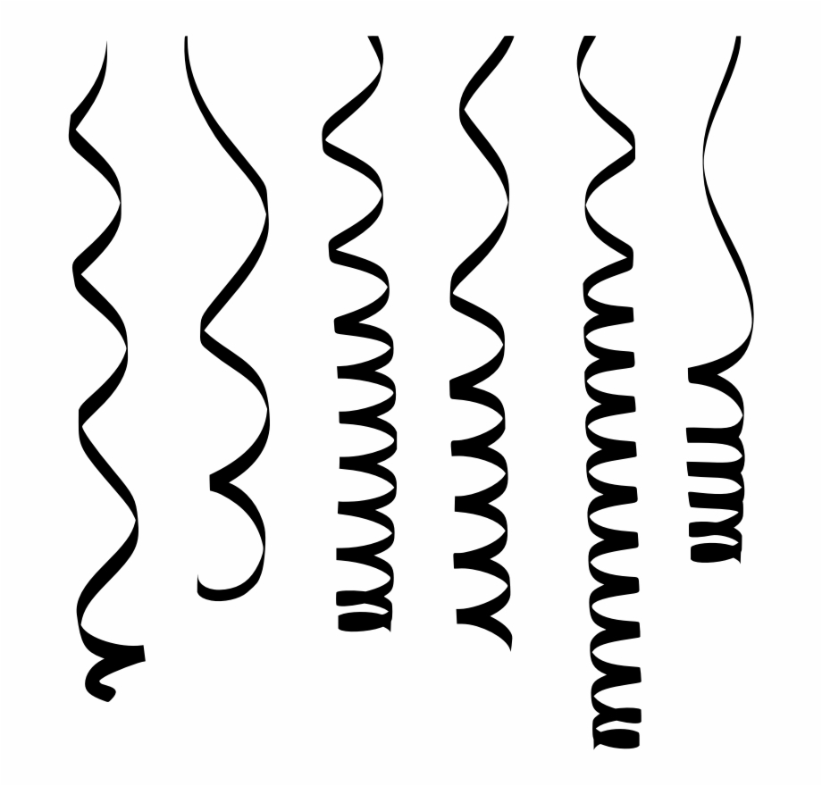Free Streamers Clipart Black And White, Download Free Clip.