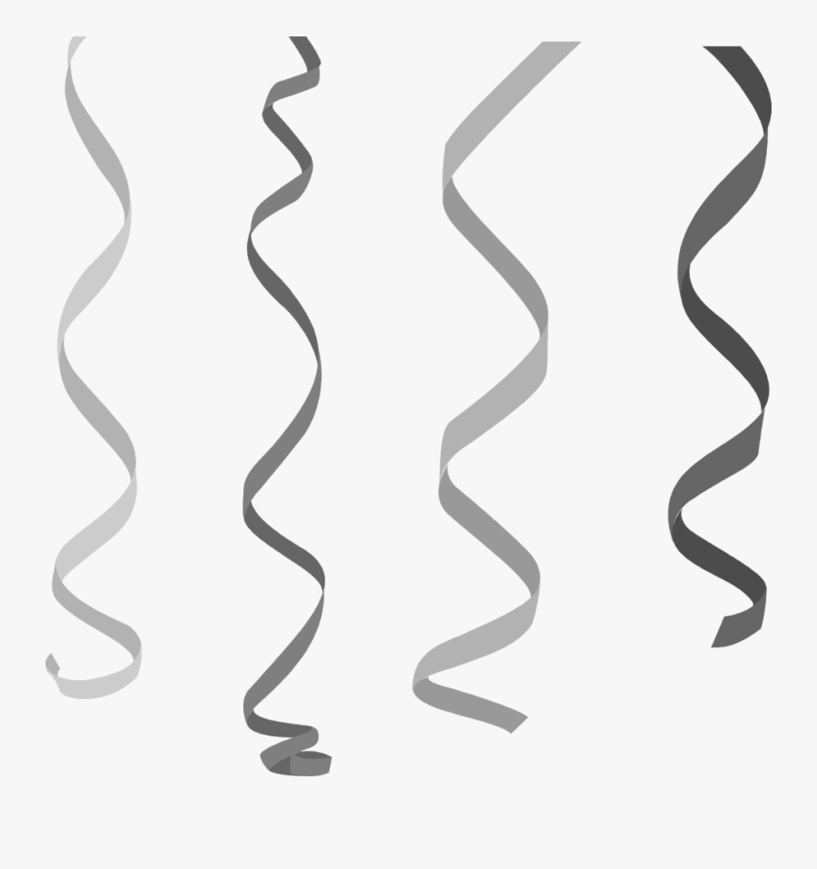 Black Streamers Clipart.