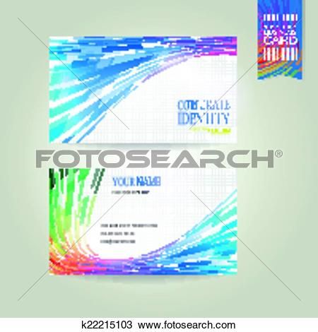 Clipart of geometric streamlined business card k22215103.