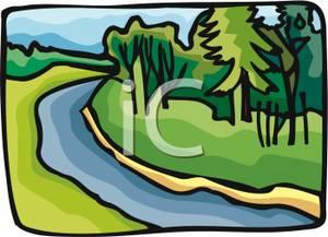 Art Image: A Stream Running Through the River.