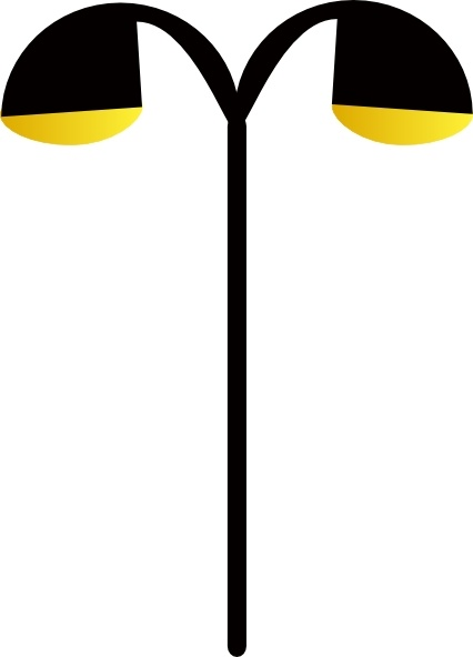 Street Lamp clip art Free vector in Open office drawing svg ( .svg.
