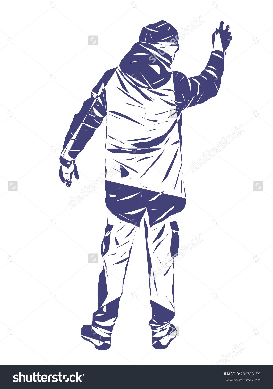 Graffiti Artist On White Background Advertising Stock Illustration.