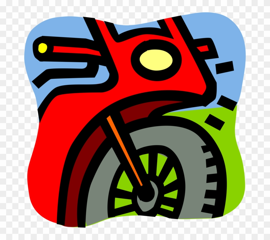 Vector Illustration Of Street Bike Motorcycle Or Motorbike.