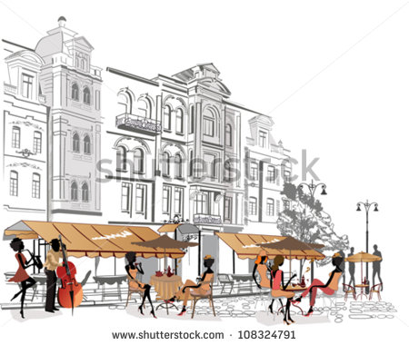 Vector Images, Illustrations and Cliparts: People relaxing in the.