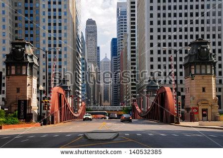 Chicago Street Sign Stock Photos, Royalty.