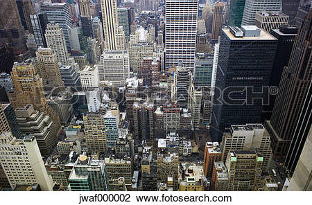 Stock Photo of USA, New York, Manhattan, view at street canyons.