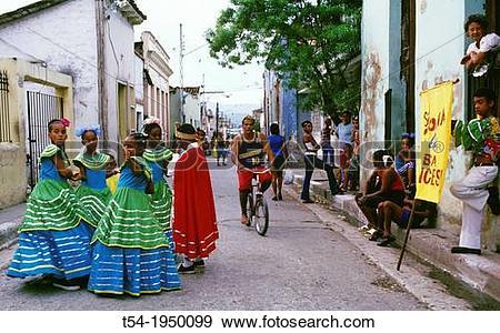 Stock Photograph of Street Carnival in Santiago de Cuba t54.