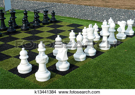 Stock Photo of Giant street chess game k13441384.
